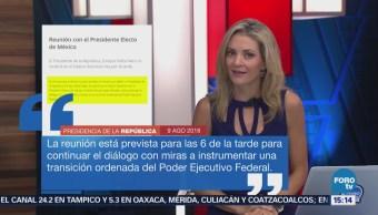 Todo listo para reunión entre López Obrador y Peña Nieto