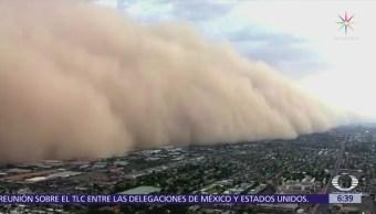 Tormenta de arena cubre Phoenix Arizona