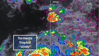 tormenta tropical john se ubica suroeste costas michoacan