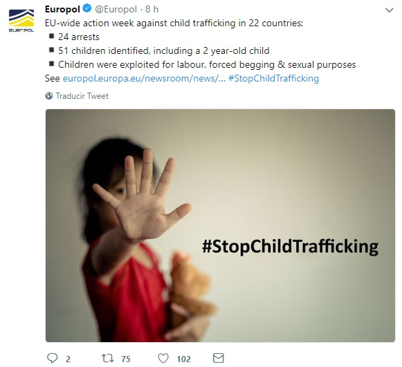 Europol desarticula red de trata infantil, Unión Europea, Abuso Sexual