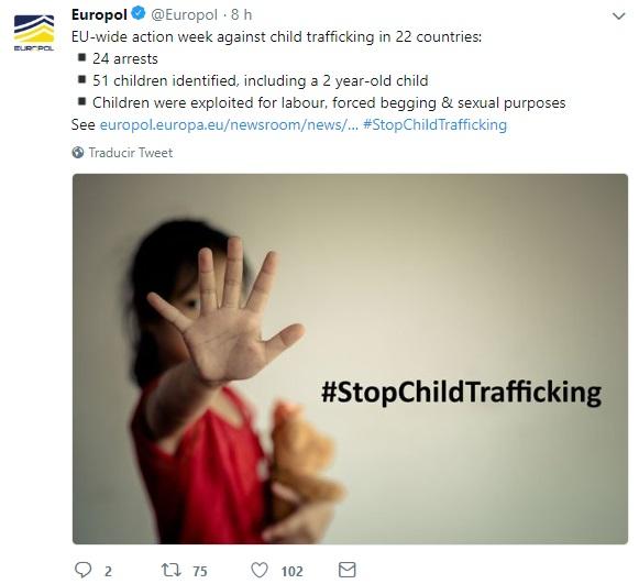 Europol desarticula red de trata infantil, Unión Europea, Abuso Sexual