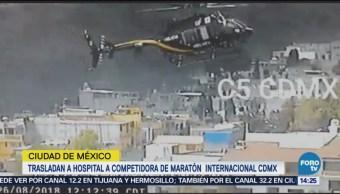 Trasladan a hospital a competidora de Maratón de CDMX