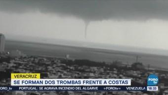 Trombas Frente Costas Veracruz Encharcamientos Inundaciones