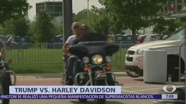 Trump elogia plan de boicot contra Harley Davidson