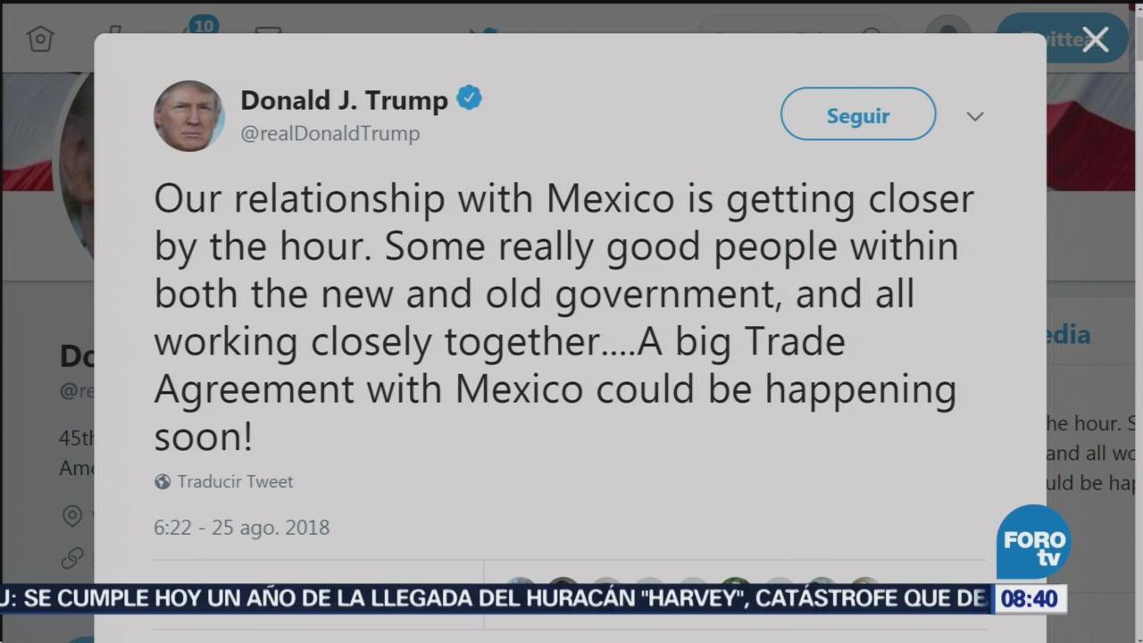 """Resultado de imagen para Trump ve cerca un """"gran acuerdo comercial"""" con México"""