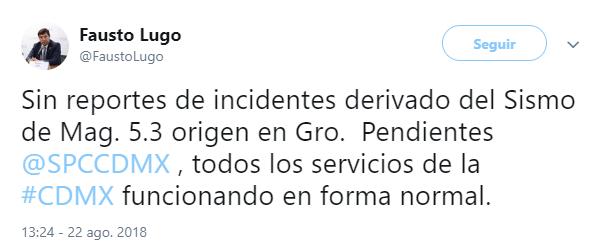 Temblor moderado se registra en Guerrero, se percibe en CDMX