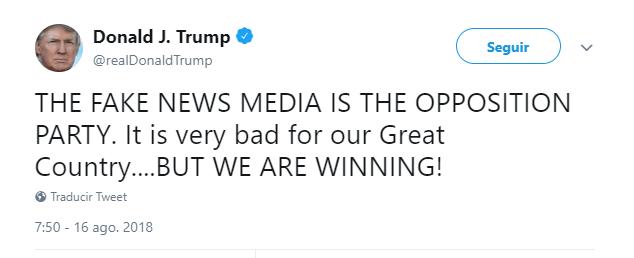Periódicos de EEUU publican editoriales contra retórica tajante de Trump