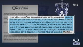 Universidad de Guadalajara expresa respaldo a Carlos Loret