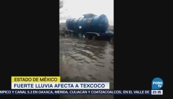Cae granizada en Texcoco en Estado de México