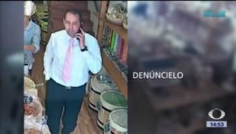 Video capta robo de celular en tienda