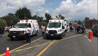 Militar muerto en Tlaxcala tras volcadura de camioneta