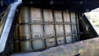 aseguran litros combustible estado mexico huchicoleros