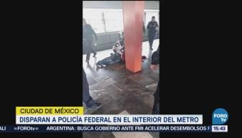 Lesionan Policía Federal Ministerial Metro