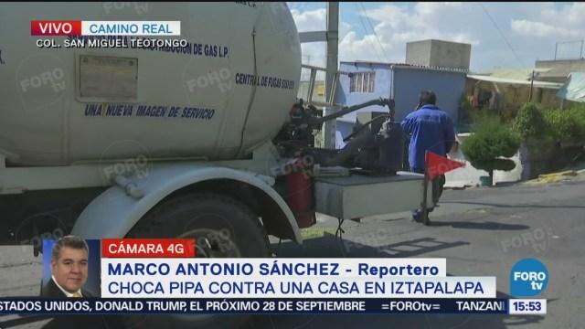 Choca Pipa Gas Contra Una Vivienda Iztapalapa