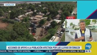 Acciones Apoyo Población Afectada Lluvias Sinaloa