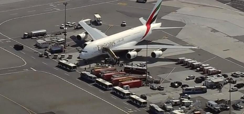 Avión de Emirates es puesto en cuarentena en New York