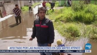 Afectados en Atenco por fisura del río Lerma piden ayuda