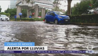 Alerta roja en Benito Juárez, Á. Obregón y Tlalpan por lluvias