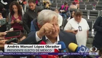 AMLO atribuye cadáveres en tráileres guerra Felipe Calderon