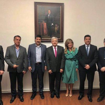 AMLO sostiene reunión privada con gobernadores de la frontera norte de México