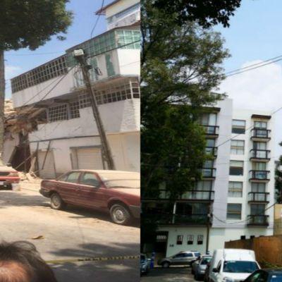 Antes y Después: fotos de edificios derrumbados en la CDMX