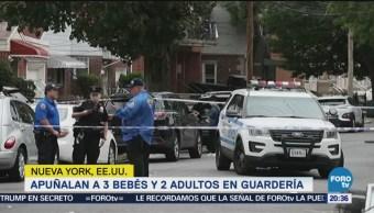 Apuñalan Bebés Adultos Guardería Nueva York EU