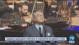 Armando Manzanero ofrecerá 10 conciertos en América Latina