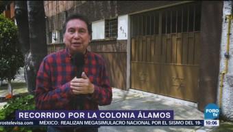 Armando Ramírez recorre la colonia Álamos