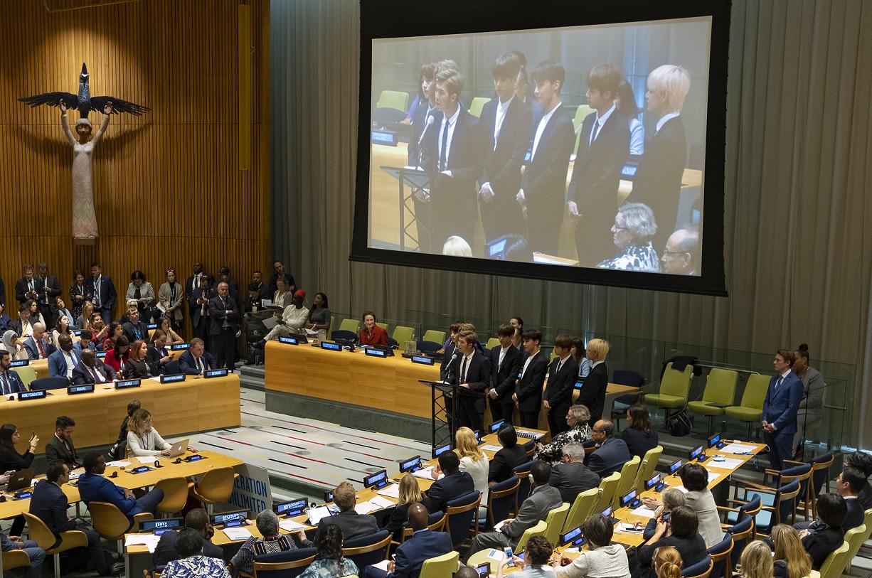 BTS, la banda coreana que habla en la ONU