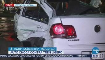Auto Choca Contra Tren Ligero Estación Xomali