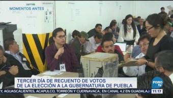 Avanza recuento de votos de la elección a la gubernatura