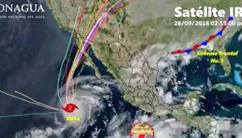 Prevén lluvias aisladas en BCS tras paso de 'Rosa'