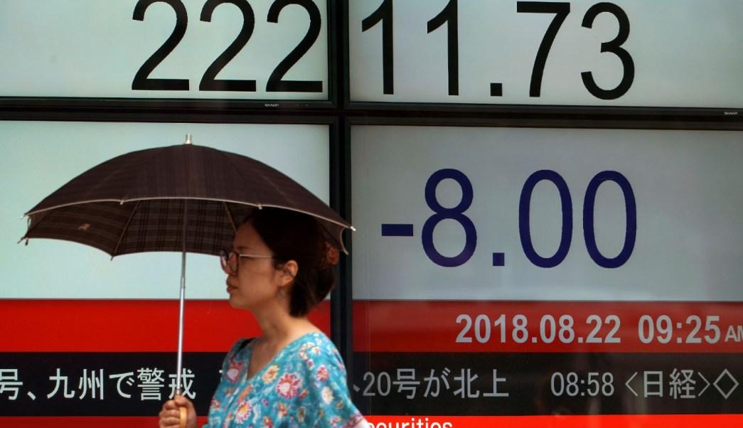 Bolsa de Tokio cierra a la baja, en China esperan aranceles