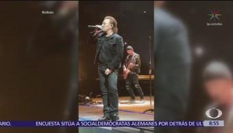 Bono de U2 recupera la voz