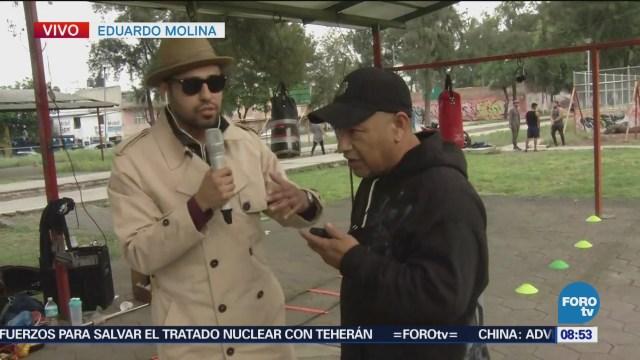 Bryan Mendoza entrevista a profesor de box en Eduardo Molina