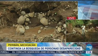 Buscan Cinco Desaparecidos Peribán Michoacán Inundaciones