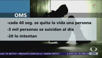 Cada 40 segundos una persona se suicida en México