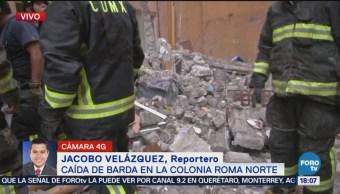 Cae Barda Colonia Roma Un Lesionado CDMX