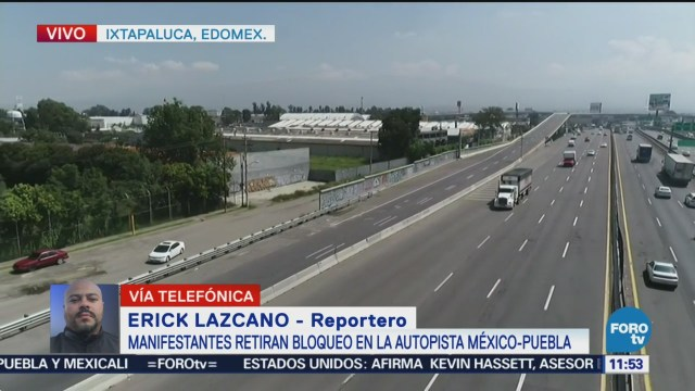 Caos en autopista México-Puebla por bloqueo en Ixtapaluca