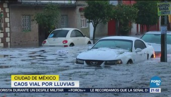 Caos Vial Lluvias Inundaciones Encharcamientos Cdmx