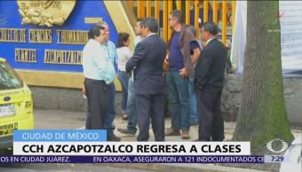 CCH Azcapotzalco reanuda clases tras 15 días de paro