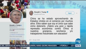 China intenta impactar elecciones en EU: Trump