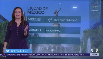 Valle de México registrará lluvias vespertina