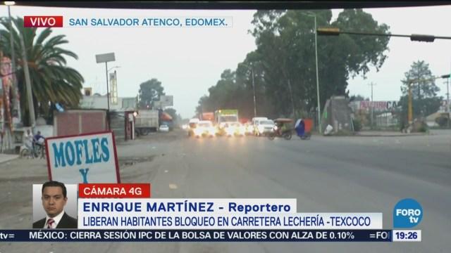Concluye Bloqueo Carretera Lechería-Texcoco