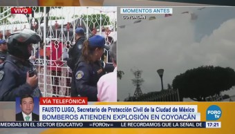 Confirman cuatro viviendas afectadas por explosión de pirotecnia en Coyoacán