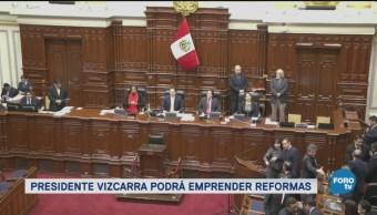 Congreso Peruano Apoyará Reformas Presidenciales Perú