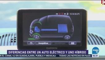 Conoce diferencias entre un auto eléctrico y un auto híbrido