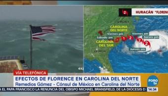 Cónsul de México en Carolina Norte sobre huracán Florence
