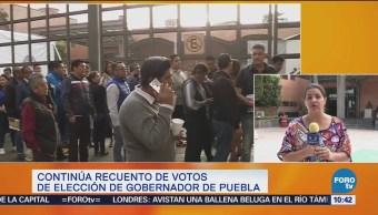 Continúa recuento de votos de la elección de gobernador