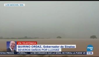 Continúan Lluvias Precipitaciones Sinaloa Inundaciones Afectaciones